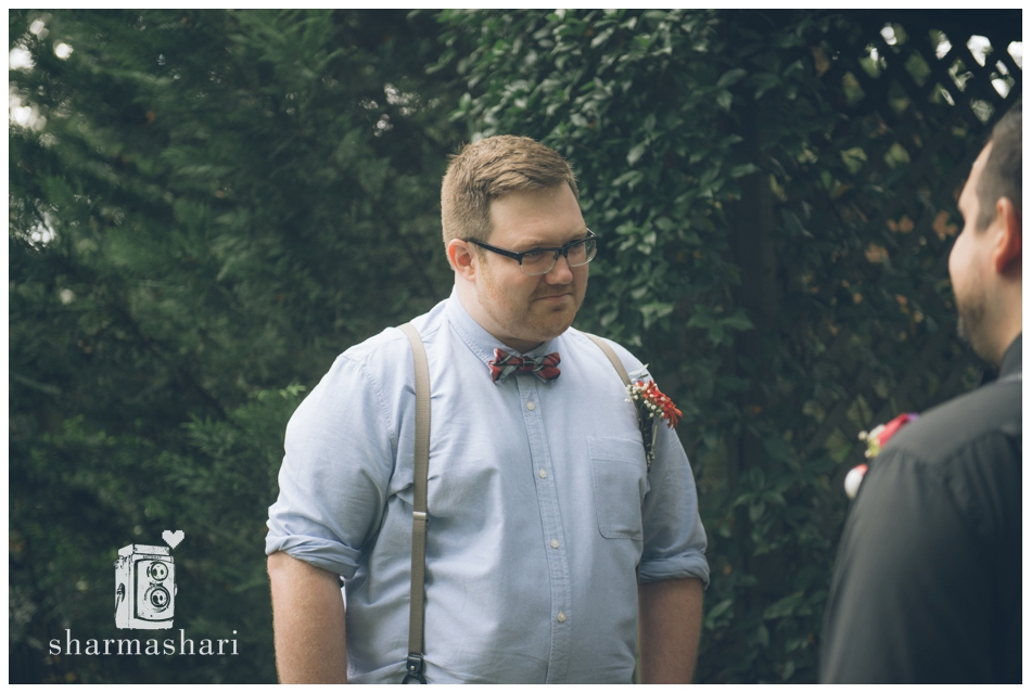 Downtown Decatur Same Sex Backyard Wedding