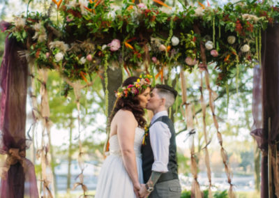 Forest Fairy Inspired Wedding First Kiss