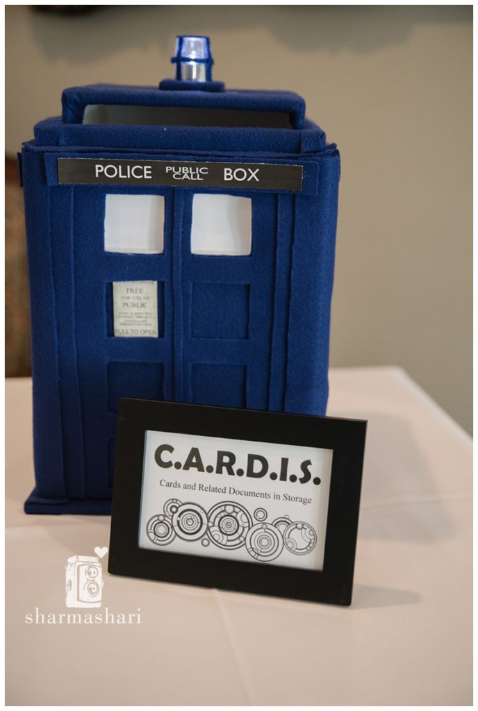 Doctor Who Wedding Tardis Cards